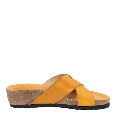 Piemme Yellow Crossover Strap Sandal