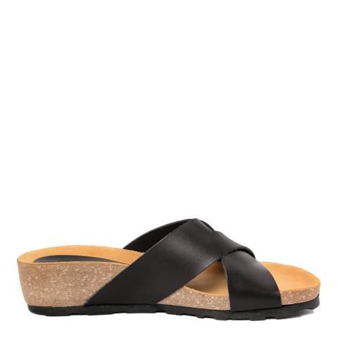 Piemme Black Crossover Strap Sandal