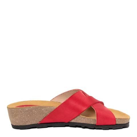 Piemme Red Crossover Strap Sandal