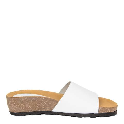 Piemme White Wide Strap Sandal