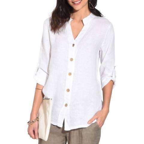 Le Jardin Du Lin White Linen Shirt