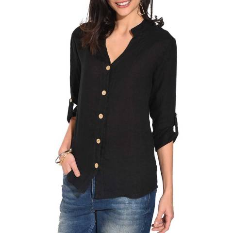 Le Jardin Du Lin Black Linen Shirt