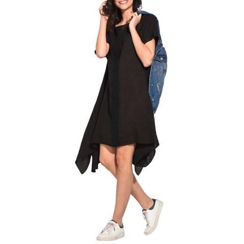 Le Jardin Du Lin Black Trapeze Midi Dress