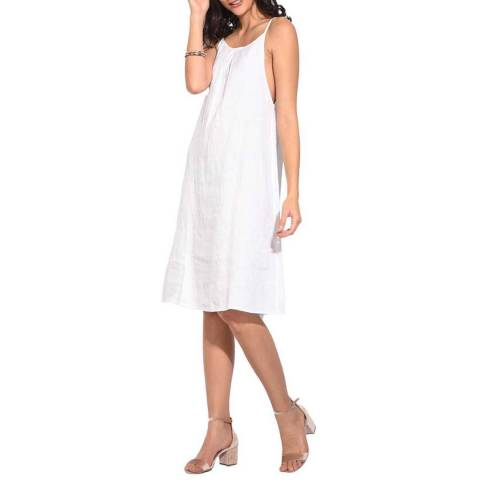 Le Jardin Du Lin White Relaxed Linen Dress
