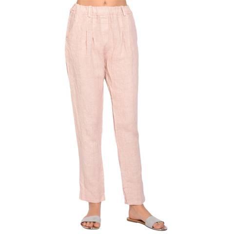 Le Jardin Du Lin Rose Tapered Linen Trousers