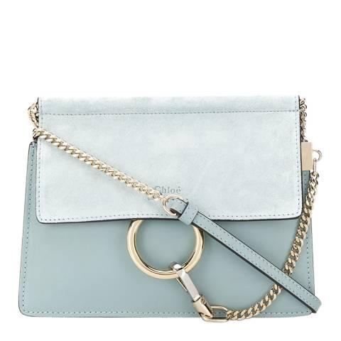 Chloe Faded Blue Faye Crossbody Bag