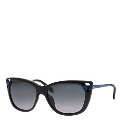 Dior Women's Black/Blue Dior Sunglasses 56mm