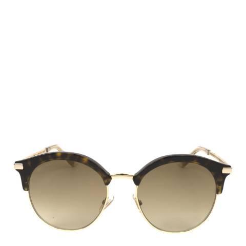 Jimmy Choo Women's Dark Havana/Brown Jimmy Choo Sunglasses 55mm