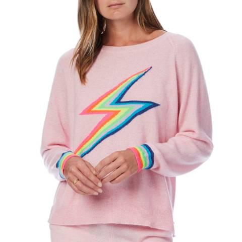 Scott & Scott London Pink Rainbow Cashmere Sweatshirt