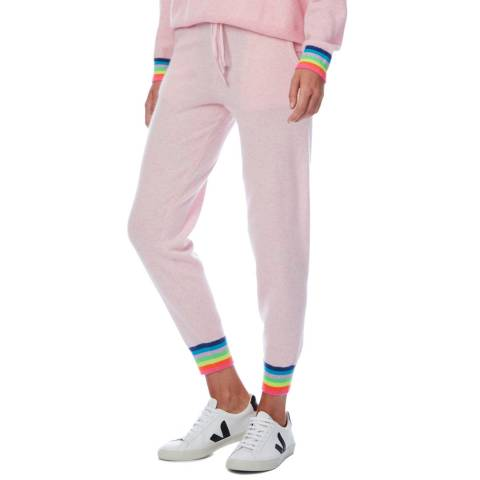 Scott & Scott London Pink Rainbow Cuff Cashmere Jogger