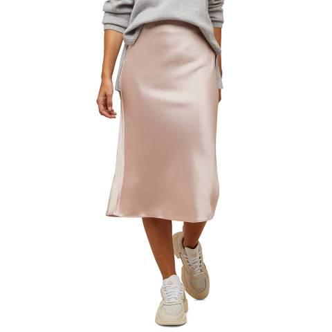 I.T.D Pink Satin Bias Cut Slip Skirt