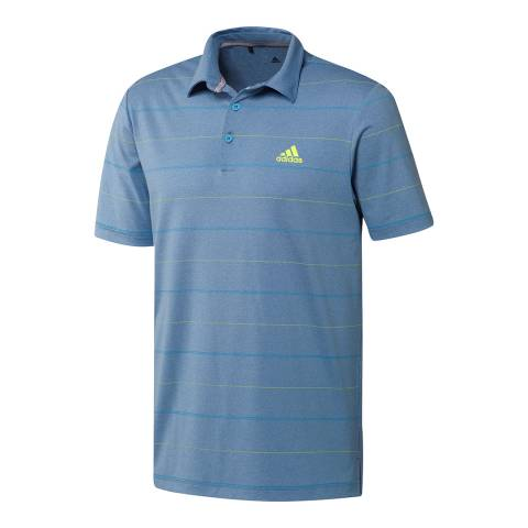 Adidas Golf Men's Blue/Yellow Ultimate 365 Polo