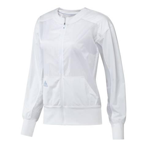 Adidas Golf Women's White Woven Crew Jacket