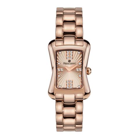 Mathieu Legrand Women's Rose Gold Stainless Steel Quartz Watch