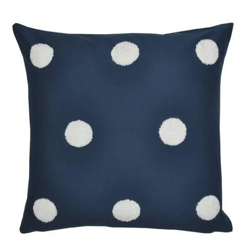 N°· Eleven Dot Garden 43x43cm Cushion, Navy/White
