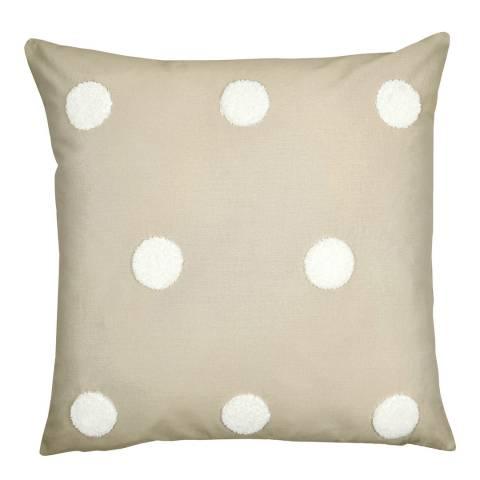 N°· Eleven Dot Garden 43x43cm Cushion, Linen/White
