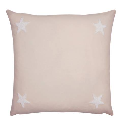 N°· Eleven Tufted Star 43x43cm Cushion, Pink/White