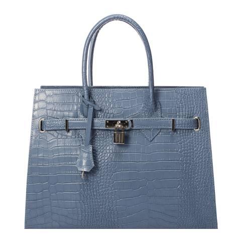 Giorgio Costa Light Blue Leather Top Handle Bag