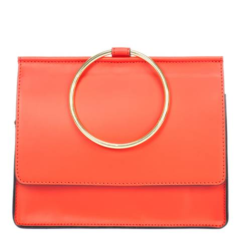 Giorgio Costa Red Leather Top Handle Bag