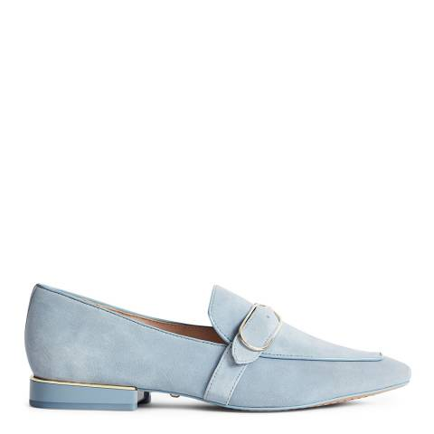 Reiss Blue Suede Nova Buckle Loafers