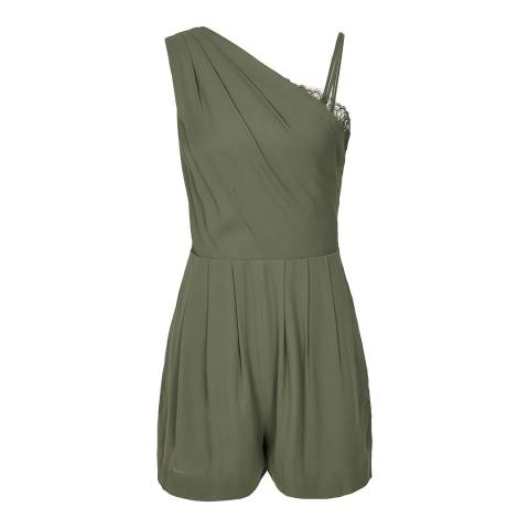 Reiss Khaki River Strappy Playsuit