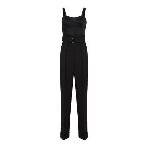 Reiss Black Natalia Structured Jumpsuit