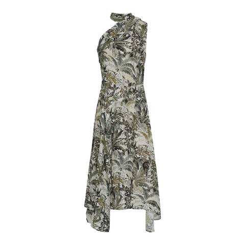Reiss Multi Jungle Print Adelia Dress