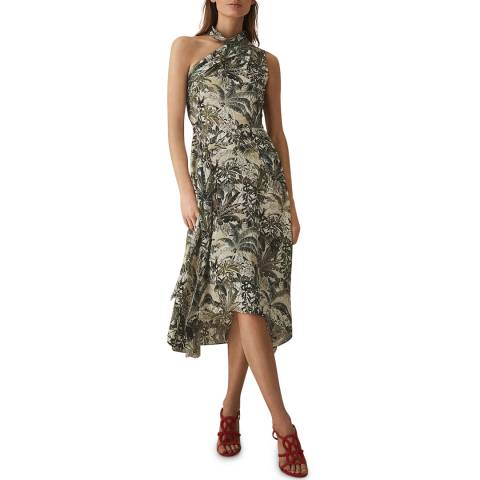 Reiss Multi Jungle Print Adelia Dress