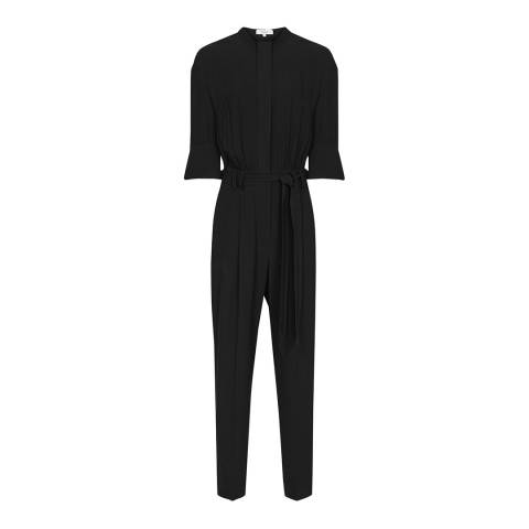 Reiss Black Freya Utility Jumpsuit