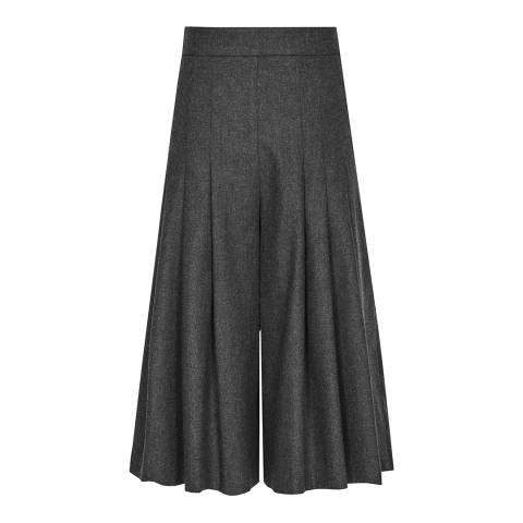Reiss Charcoal Carson Pleat Culottes