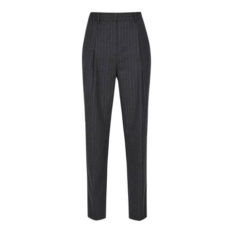 Reiss Charcoal Pinstripe Turner Trousers
