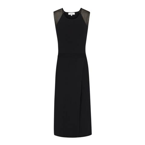 Reiss Black Leila Sheer Dress