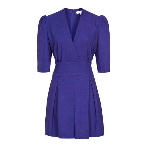 Reiss Blue Uma Wrap Playsuit