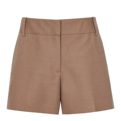 Reiss Brown Lyla Twill Shorts