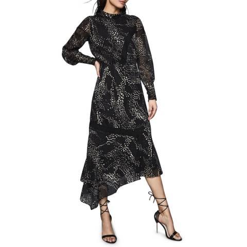 Reiss Multi Luiza Spot Burnout Dress