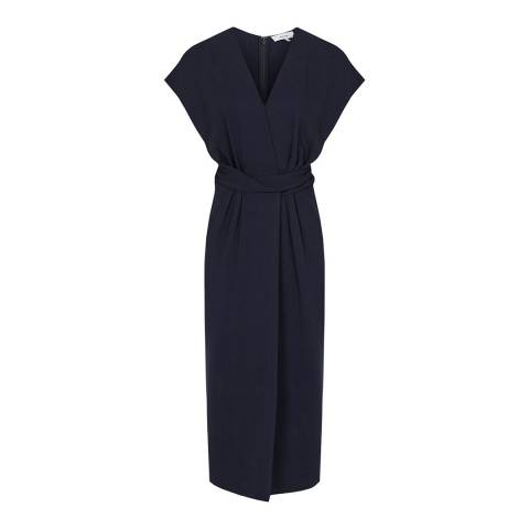 Reiss Navy Maxime Fitted Dress