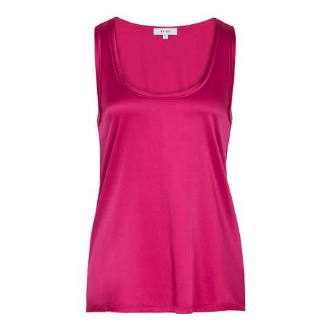 Reiss Pink Remey Silk Front Vest