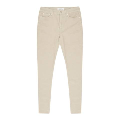 Reiss Beige Cord Lux Stretch Jeans