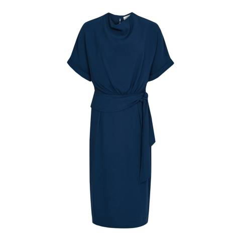 Reiss Teal Lola Belt Dress