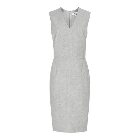 Reiss Grey Thea Tailored Summer Dress