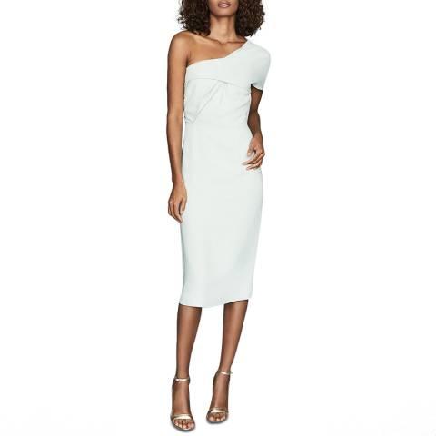 Reiss Blue Riana One Shoulder Dress
