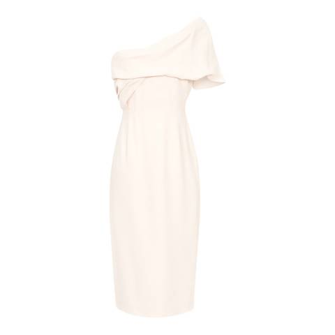 Reiss Pink Riana One Shoulder Dress