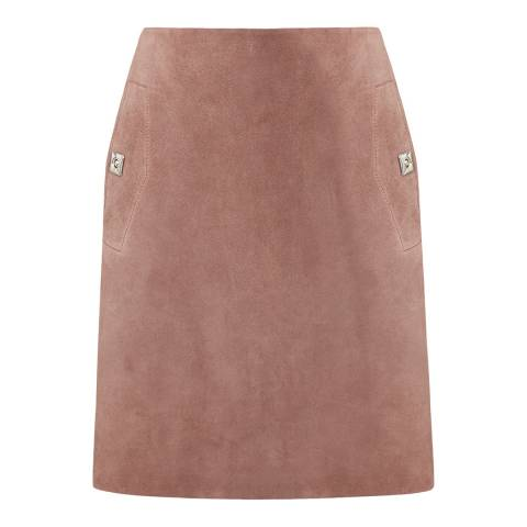 Reiss Pink Suede Pippa Mini Skirt
