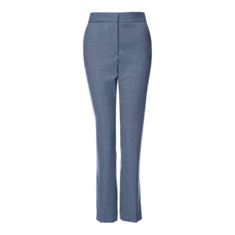 Reiss Blue Check Nicola Trousers