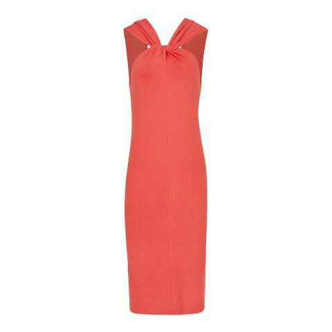 Reiss Red Sawyer Twist Dress