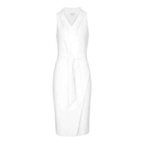 Reiss White Macy Halter Dress