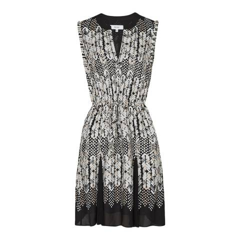 Reiss Black Antonia Arrow Print Dress