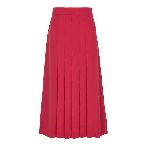 Reiss Pink Cleona Box Pleat Skirt