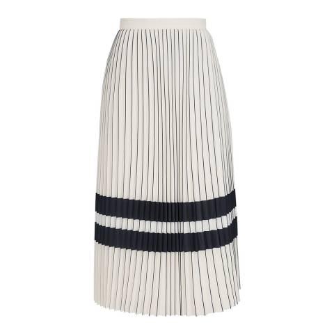 Reiss Cream Annabelle Stripe Skirt