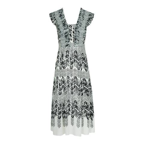 Reiss Multi Avery Arrow Print Dress